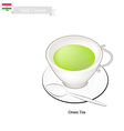 Tajik Green Tea Popular Drink in Tajikistan vector image vector image