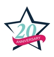 Template Logo 20 Anniversary vector image vector image