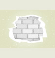 torn white wallpapers brick wall vector image vector image