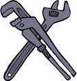 two adjustable wrenches vector image vector image