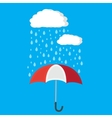Umbrella and rain with clouds vector image vector image
