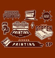 vintage screen printing elements collection vector image vector image
