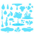 water splash dripping water tear blob and waters vector image