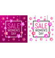 womens day frame sale march 8 vector image
