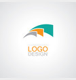 swirl loop abstract logo vector image