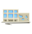 1960s architecture vintage building or multi vector image vector image