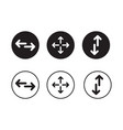 a set of directional arrow icons vector image vector image