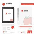 apple business logo tab app diary pvc employee vector image vector image