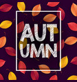 autumn background with falling leaves vector image vector image