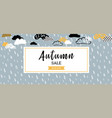 autumn sale background banner for shopping sale vector image vector image