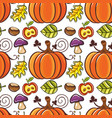 autumn seamless pattern with ripe pumpkins vector image
