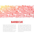 barbeque line design template vector image