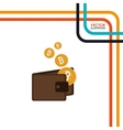 bit coins design vector image vector image