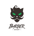 black cat logo sign emblem design vector image