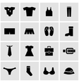 black clothes icon set vector image vector image