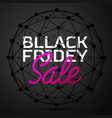 black friday sale concept abstract backg vector image vector image