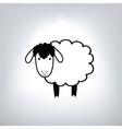 black silhouette sheep vector image