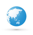 blue world earth globe asia japan internet concept vector image