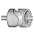 cam wheel vintage vector image vector image