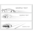 Car banners set vector image vector image