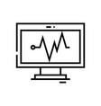 cardiogram line icon concept sign outline vector image