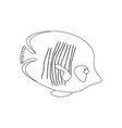 chaetodon semilarvatus fish coloring pages vector image vector image