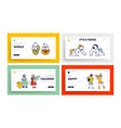 children characters happily smiling landing page vector image