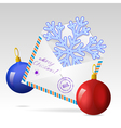 christman mailing envelope vector image