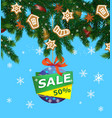 christmas sale advertising vector image vector image