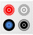 cog eps icon with contour version vector image