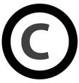 copyright icon vector image vector image