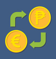 Currency exchange Euro and Peso vector image vector image