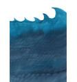 dark blue ocean wave and under sea watercolor vector image