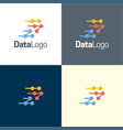 data logo and icon vector image vector image