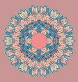 decorative mandala design vector image vector image