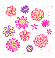 Doodle sketch flowers vector image vector image