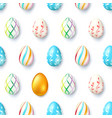 easter ornament from painted eggs and one gold vector image