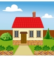 Eco house from natural materials vector image vector image