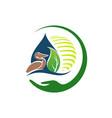 environmental sustainability logo sign earth vector image vector image