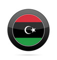 flag of libya shiny black round button vector image vector image