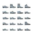 Footwear icon set vector image vector image