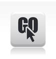 go icon vector image vector image