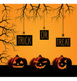Halloween poster design vector image