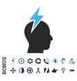 Headache Flat Icon With Bonus vector image