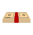 isolated stack of bills vector image vector image