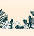 jungle plant border with vector image vector image