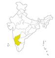 karnataka vector image vector image