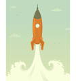 Launch of space rocket