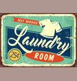 laundry room retro metal sign vector image vector image