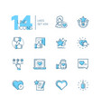 likes - set of line design style icons vector image vector image